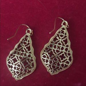 Gold Filagre earrings