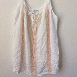 Maurice's embroided trim sleeveless tank blouse 2X