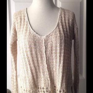 Free People Sweater Sz M Linen Cotton
