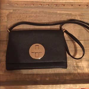 Kate Spade Black purse with fabric bag