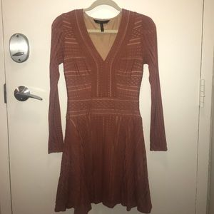 Bcbg long sleeve fit in flare dress