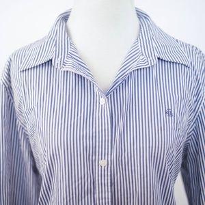 eb3009d7e6321 Lauren Ralph Lauren Tops - Ralph Lauren blue pinstripes NO IRON poplin shirt