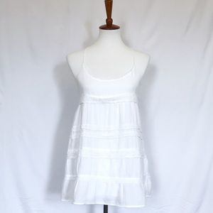 White Hollister Lace-Up Tunic, Sz S