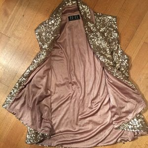 Glamorous Gold sequence vest