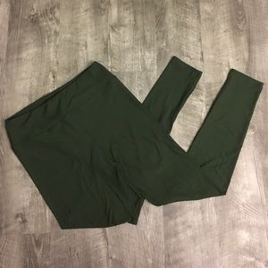 Dark Green Solid LulaRoe Leggings