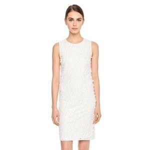 (Nearly New) Lagerfeld White Flower Dress