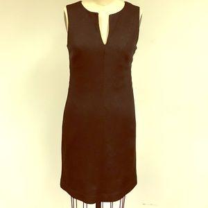 Trina Turk black metallic glitter sheath dress