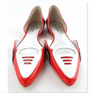 Kate Spade Shoes New Racer Red Sport Car Dorsay Flats Poshmark