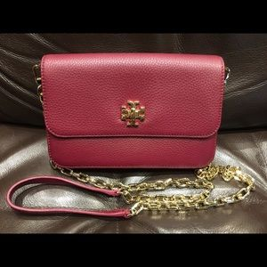 Authentic TORY BURCH leather crossbody bag