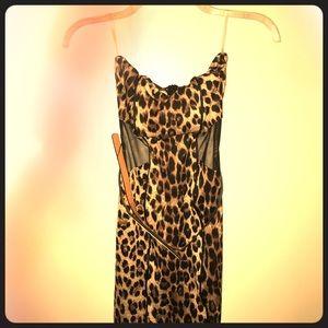 Leopard mesh dress