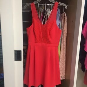 BCBGeneration bright coral dress