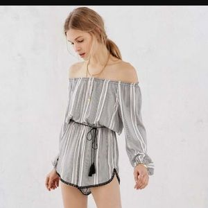 Urban Outfitters Off Shoulder Romper
