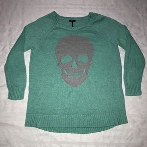 Nollie skull crew neck pullover sweater size L