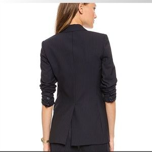 Theory Sedeia Pinstriped One-Button Blazer