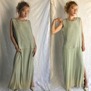 Vintage Dress Sparkle Alex Brand Mint Green Hombre