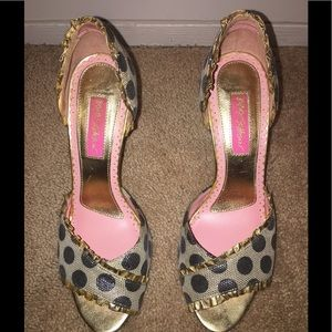 Betsey Johnson Open Toe Heels
