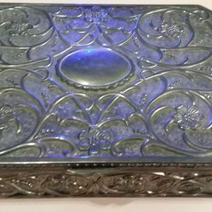 Sterling silver plated box filled with jewelry