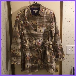 Floral Print Raincoat