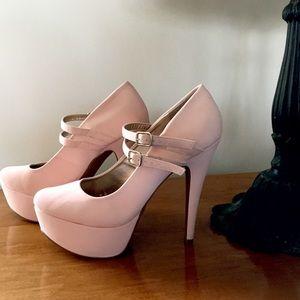 QUPID Pastel Pink Heels Size 10.5