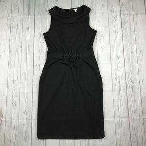 J Crew Carrie tailored wool black sleeveless dress