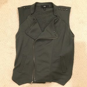 Tops - Army Green Studded Vest