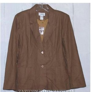 Chadwick's brown blazer jacket sz 12P