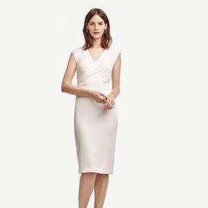 Anne Taylor Draped Sheath Dress