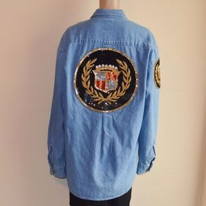 1 of a Kind Dickies Denim Bling Cadillac Shirt