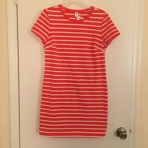 🔥 2 FOR $20 🔥 Old Navy Orange Striped Dress