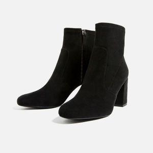 Zara elastic high heel ankle boots