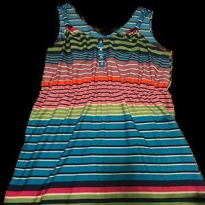 Multicolor stripped tank dress