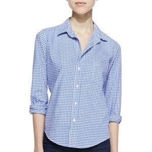 Frank & Eileen Barry Gingham Button-Down Blouse