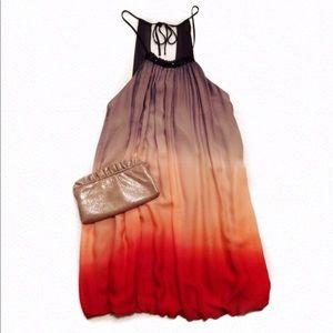 Ombré Halter Cocktail Dress