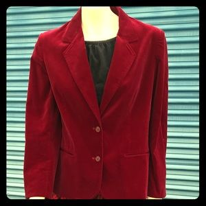 vintage preppy red velvet Eng riding jacket blazer