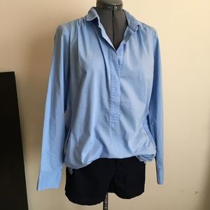J Crew tunic length popover shirt