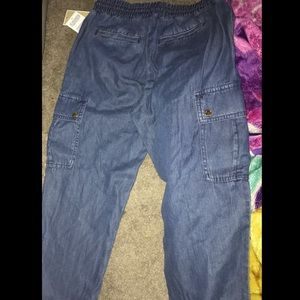 Michael Kors Size O Denim Cargo Pants *New*