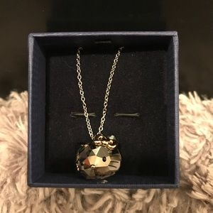 Swarovski Hello Kitty Jet Gold Pendant Necklace