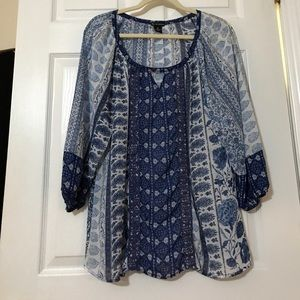 New Directions Sheer Blouse
