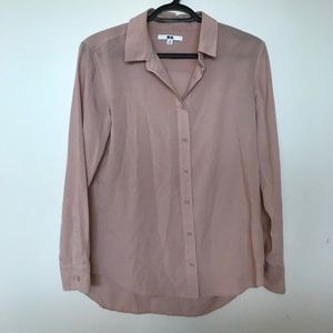 Uniqlo Rayon Long Sleeve Button Down Shirt