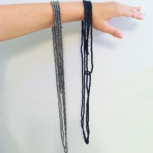 Long beaded wrap necklaces