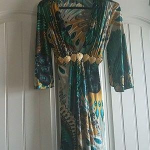 Peacock Sky Dress