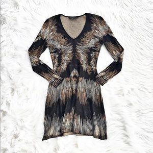 BCBG MaxAzria Katia electric strokes knit dress