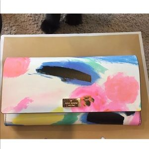 Kate spade watercolor Wallet Clutch