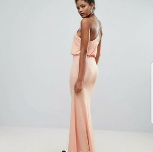 Club L peach maxi dress