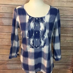 American Eagle Outfitters Plaid Top Size 6