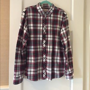 Banana Republic plaid button down