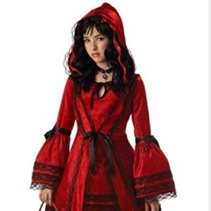 Strangling little red riding hood costume