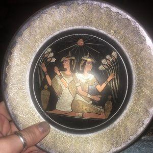 Egyptian inspired decor plate