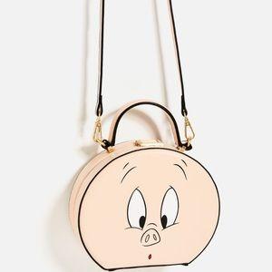 Zara Looney Tunes (Porky Pig) Minaudière Bag