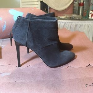 French Connection Purple Suede Booties